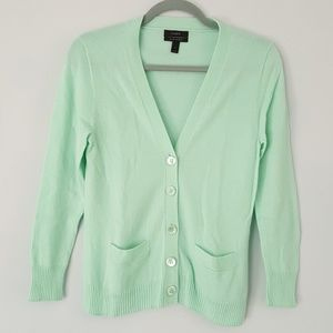 J.Crew Collection Cashmere V Neck Cardigan Sweater